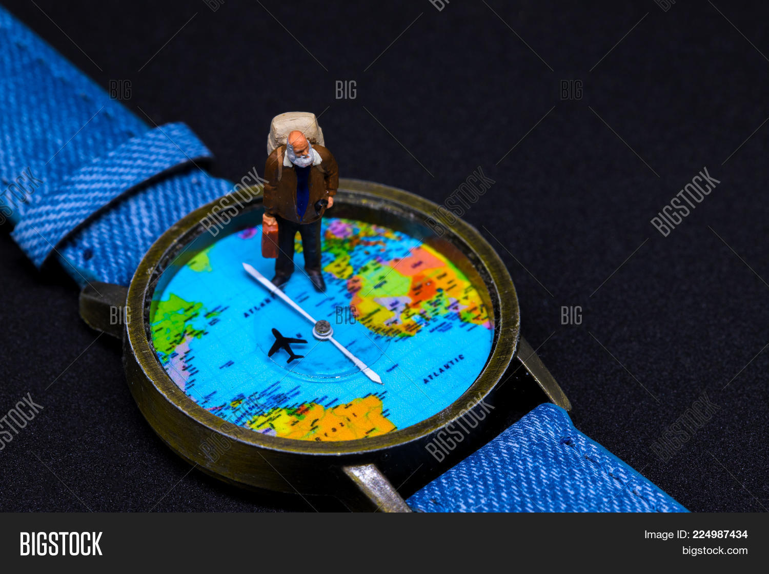 Old man backpack world image photo free trial bigstock old man with backpack and world map watches around world travel photo banner senior gumiabroncs Images