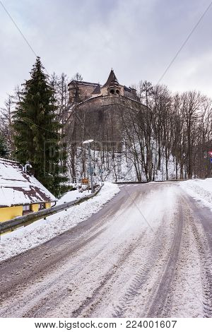 Orava Castle At Slovakia, Historical Monument Fortress