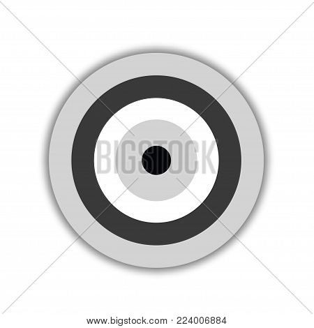 evil eye vector in black and grey colors - symbol of protection