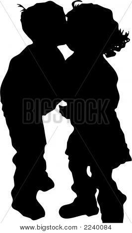 Boy Girl Kiss Illus 8