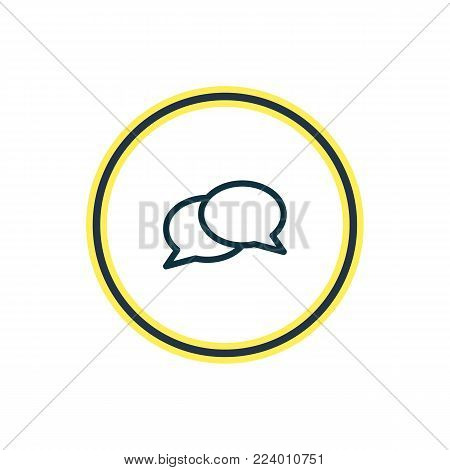 Vector illustration of chat icon line. Beautiful connect element also can be used as dialogue icon element.