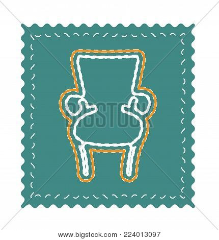 Armchair icon vector, eps8. Furniture neon vector illustration