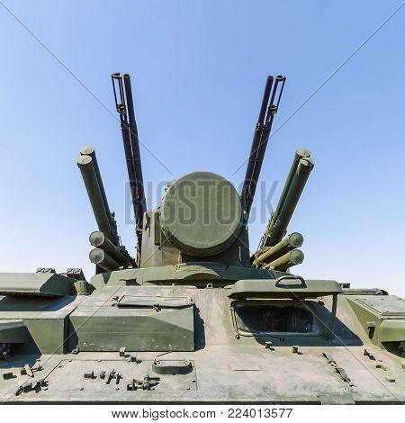 KADAMOVSKIY TRAINING GROUND, ROSTOV REGION, RUSSIA, 26 AUGUST 2017: International military technical forum