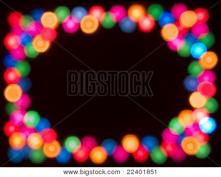 Blurred Coloured Night Lights with CopySpace