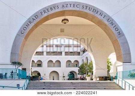 Conrad Prebyz Astec Student Union On The Campus Of San Diego State University