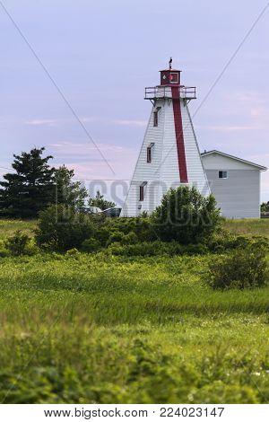 Murray Harbour Range Rear Lighthouse On Prince Edward Island. Prince Edward Island, Canada.