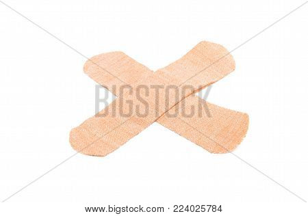 bactericidal adhesive plaster isolated on white background