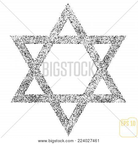 Star Of David Icon Vector Illustration Symbol Israel Judaism Bla