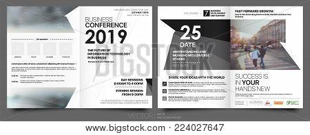 Business Template for Flyer Design Portfolio Booklet Brochures Layout Leaflet Magazine. Stock vector