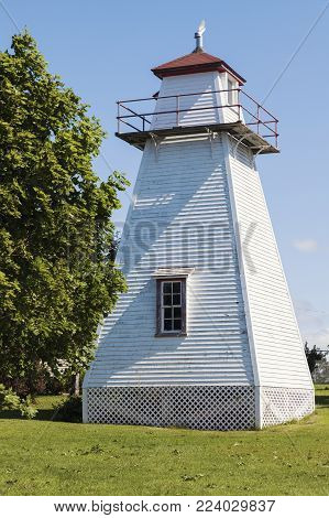 Wrights Range Rear Lighthouse On Prince Edward Island. Prince Edward Island, Canada.