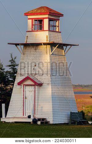 Fish Island Lighthouse On Prince Edward Island. Prince Edward Island, Canada.