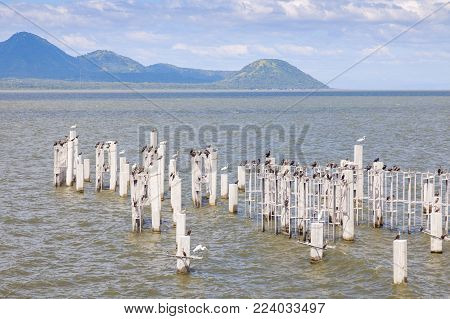 Lake Xolotlan In Managua In Nicaragua. Managua, Nicaragua.