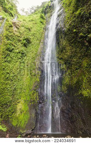 San Ramon Waterfalls On Ometepe Island. Managua, Nicaragua.