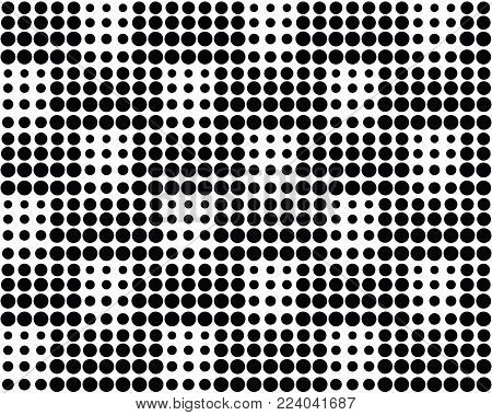 Seamless dots, halftone pattern, geo, geometric seamless texture, abstract geomeric background in black and white  color, web site seamless texture, overlay vector textured background