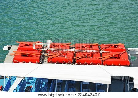 Liferaft On Deck