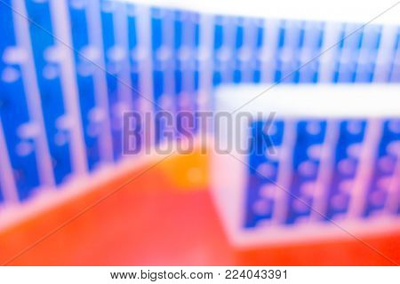Abstract blur Ascending Blue Lockers