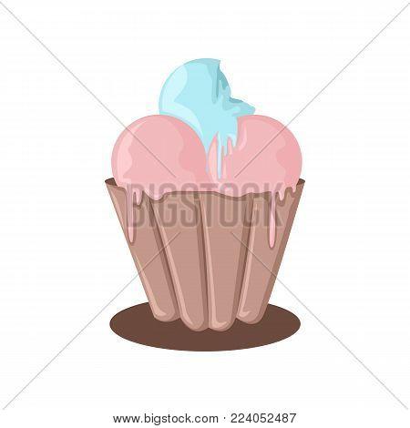 Ice Cream Melting Vector Illustration Graphic Design