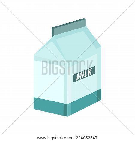 Milky Box Breakfast Vector Illustration Graphic Design