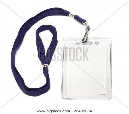 badge ID isolated on white background
