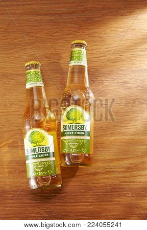 Kuala Lumpur Malaysia 19th December 2016 Somersby cider is a brand  cider produced by Danish brewing company Carlsberg Group. It is being sold in more than 46 countries.