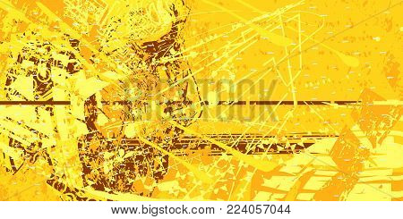 yellow artistic neo-grunge style abstract backgrounds, made with hand drawn textures and brushes