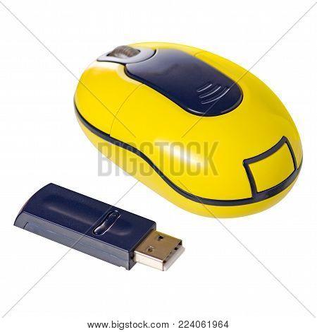 Wireless mouse isolation on white background isolation