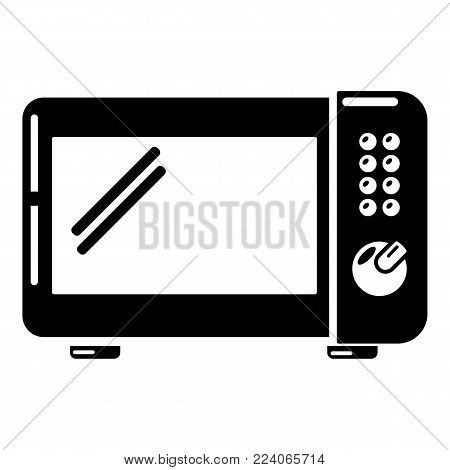 Microwave oven icon. Simple illustration of microwave oven vector icon for web.