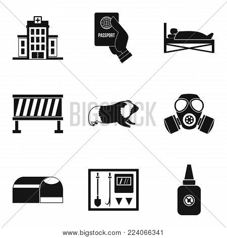 Helping icons set. Simple set of 9 helping vector icons for web isolated on white background