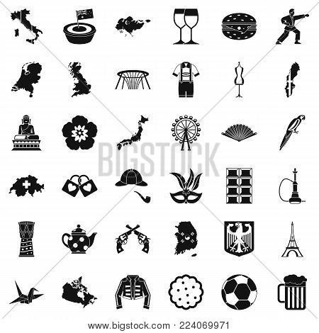 Transformation icons set. Simple set of 36 transformation vector icons for web isolated on white background