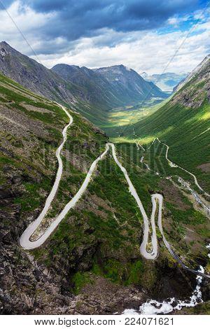 Norway troll road - mountain route of Trollstigen, Norway