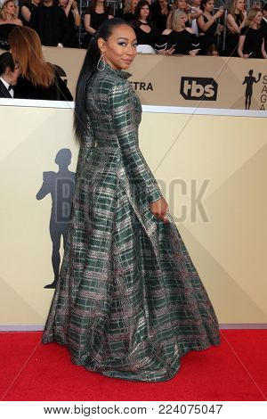 LOS ANGELES - JAN 21:  Betty Gabriel at the 24th Screen Actors Guild Awards - Press Room at Shrine Auditorium on January 21, 2018 in Los Angeles, CA