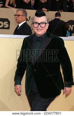 LOS ANGELES - JAN 21:  Lea DeLaria at the 24th Screen Actors Guild Awards - Press Room at Shrine Auditorium on January 21, 2018 in Los Angeles, CA