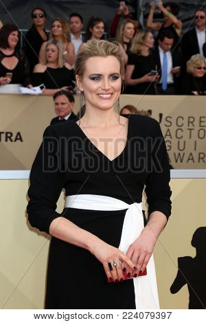 LOS ANGELES - JAN 21:  Taylor Schilling at the 24th Screen Actors Guild Awards - Press Room at Shrine Auditorium on January 21, 2018 in Los Angeles, CA