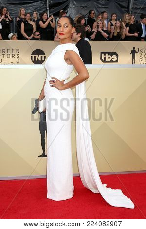 LOS ANGELES - JAN 21:  Tracee Ellis Ross at the 24th Screen Actors Guild Awards - Press Room at Shrine Auditorium on January 21, 2018 in Los Angeles, CA