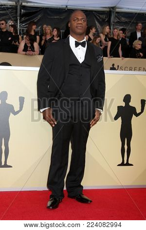 LOS ANGELES - JAN 21:  Marcus Henderson at the 24th Screen Actors Guild Awards - Press Room at Shrine Auditorium on January 21, 2018 in Los Angeles, CA