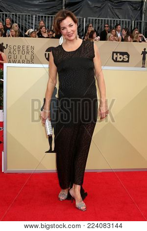 LOS ANGELES - JAN 21:  Margaret Colin at the 24th Screen Actors Guild Awards - Press Room at Shrine Auditorium on January 21, 2018 in Los Angeles, CA