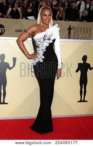 LOS ANGELES - JAN 21:  Mary J Blige at the 24th Screen Actors Guild Awards - Press Room at Shrine Auditorium on January 21, 2018 in Los Angeles, CA