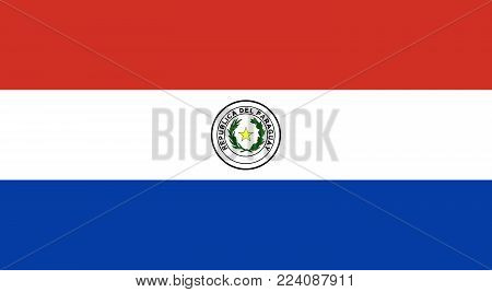 Flag of Paraguay. Vector illustration. World flag