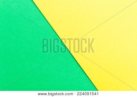 Green and yellow color paper texture background. Trend colors, geometric paper background. Colorful of soft paper background.