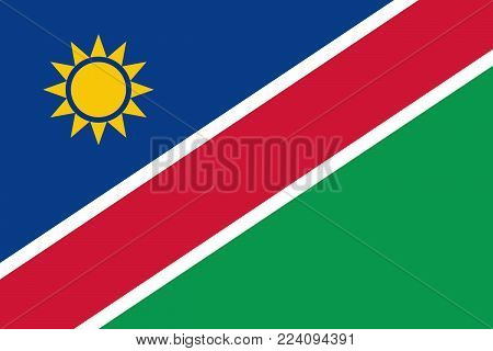 Flag of Namibia. Vector illustration. World flag