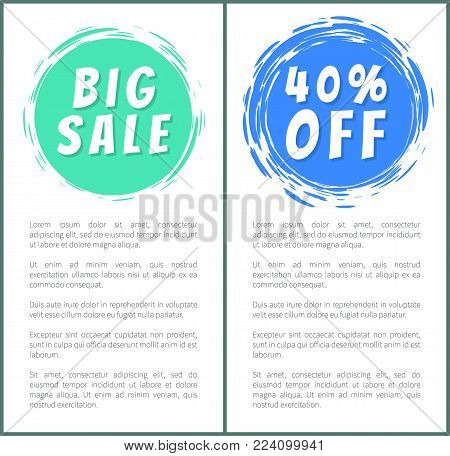Set of hot sale best price advertising banners, vector illustration with ad text isolated on white with black frames, colorful buttons, cute stickers