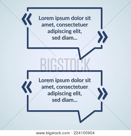 Quote shout text box minimalistic geometrical design. Information container poster rectangle textbox. Vector illustration