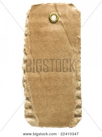 tag cardboard isolated on white background