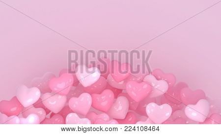 Hearts background. Valentines day. 3d heart. Love wallpaper. Propsal. Wedding. Engagement. Marriage celebration. Datting. Romantic. Passion. Love symbol. Modern 3d render.