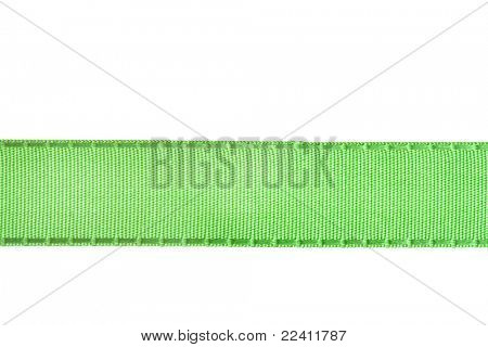 green ribbon isolated on white