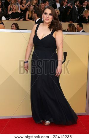 LOS ANGELES - JAN 21:  Beanie Feldstein at the 24th Screen Actors Guild Awards - Press Room at Shrine Auditorium on January 21, 2018 in Los Angeles, CA