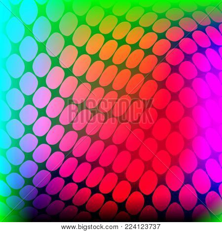 Banner distorted surface. Holographic background. Vector illustration