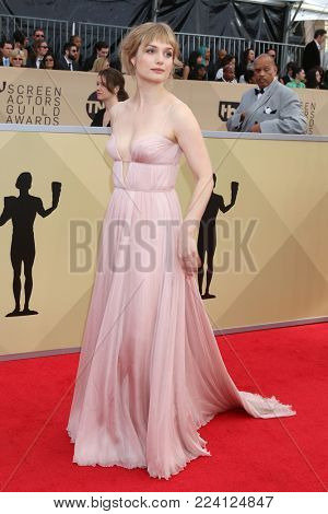 LOS ANGELES - JAN 21:  Alison Sudol at the 24th Screen Actors Guild Awards at Shrine Auditorium on January 21, 2018 in Los Angeles, CA