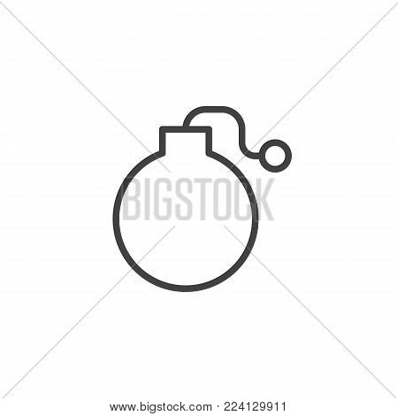 Fuse Bomb line icon, outline vector sign, linear style pictogram isolated on white. Symbol, logo illustration. Editable stroke