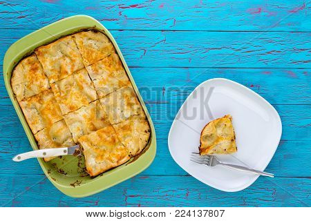 Fresh Oven-baked Pie With Pastry Crust